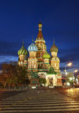 St. Basil's Cathedral on Red square at night Royalty Free Stock Photos
