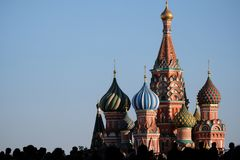 St. Basil`s Cathedral royalty free stock photo