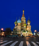 St. Basil's Cathedral in summer night Stock Photos