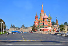 St. Basil's Cathedral on Vasilyevsky descent. Moscow, Russia Stock Image