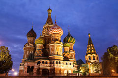 St Basil's Church. On the Red Square in Moscow Royalty Free Stock Photography