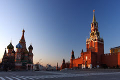 St. Basil's & The Kremlin at Moscow Stock Photography