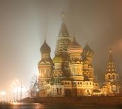 St. Basil's at Night Royalty Free Stock Images