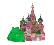 St Basil vector illustration color version Stock Photography