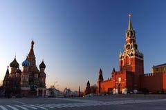 St Basilico & il Kremlin a Mosca Fotografia Stock