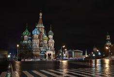 St. basilicum Catedral in Moskou. Rusland Stock Afbeeldingen
