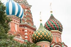 St Basilicum` s Kathedraal in het Rode Vierkant van Moskou royalty-vrije stock foto's
