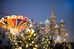 St Basilicum` s Kathedraal op Rood vierkant in Moskou royalty-vrije stock foto's