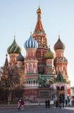 St Basilicum` s Kathedraal op Rood vierkant in Moskou Royalty-vrije Stock Afbeeldingen