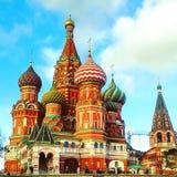 St Basilicum` s kathedraal op Rood Vierkant, Moskou, Rusland Royalty-vrije Stock Fotografie