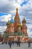 St Basilicumkathedraal en monument aan Minin en Pozharsky Royalty-vrije Stock Foto