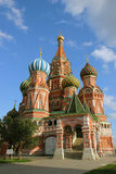 St. Basilika Blazhenova i Moscow Arkivbild