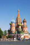 St Basilikadomkyrka i Moscow Arkivfoton