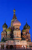 St. Basils cathedral. At dusk, Moscow Stock Image