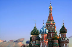 St. Basils Cathedral, Moscow. St. Basils Cathedral at dusk, Moscow Royalty Free Stock Photo