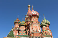 St Basils Cathedral, Moscow. The onion domes of St Basils, Moscow Stock Photography