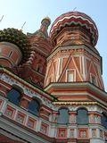 St. Basils Cathedral cupolas - Moscow  Red square Royalty Free Stock Photos