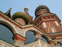 St. Basils Cathedral cupolas - Moscow  Red square Stock Photo