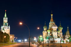 St Basils Cathedral in Red Square Stock Images