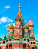 St Basils cathedral on Red Square in Moscow Stock Photography