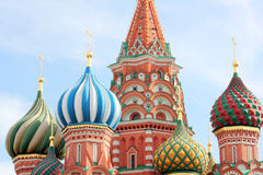 St Basils cathedral on Red Square in Moscow Stock Photos
