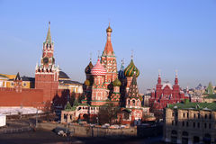 St Basils Cathedral and Red Square Stock Photos