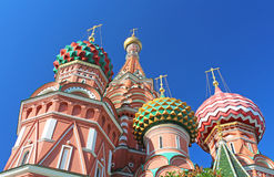 St. Basils cathedral on Red Square Stock Photography