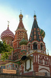 St. Basils cathedral on Red Square in Moscow Royalty Free Stock Images