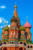 St. Basils cathedral on Red Square in Moscow Royalty Free Stock Image