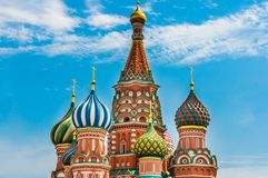 St. Basils cathedral on Red Square in Moscow stock photo