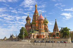 St. Basils Cathedral on Red square in Moscow, Russia. Domes of Vasiliy Blazhenny cathedral on Red Square in Moscow, Russia royalty free stock photo