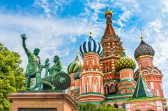 St. Basils cathedral on Red Square in Moscow, Russia Stock Image