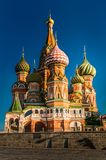 St. Basils cathedral on Red Square in Moscow, Russia royalty free stock images