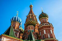 St. Basils cathedral on Red Square Royalty Free Stock Photo