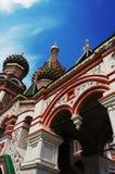 St.Basils in Moskou stock afbeeldingen