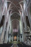 St Bavo ` s大教堂-跟特-比利时 库存图片