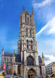 St Bavo's Cathedral, Ghent. Photograph of the St Bavo's Cathedral, Ghent, Belgium royalty free stock photography