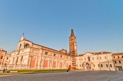 St.Benedict basilica and Polirone Abbey in San Benedetto Po, Italy Royalty Free Stock Photos