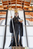 St Benedict statue used for worship by pilgrims in the Crypt Royalty Free Stock Images