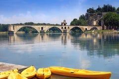 St.-Benezet bridge in Avignon, France Stock Photos