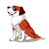 St Bernard Dog Stock Illustratie