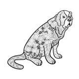 St Bernard Dog stock de ilustración