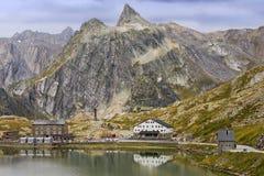 St Bernard Pass di grande in Svizzera Fotografia Stock