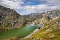 St Bernard Pass di grande in Svizzera Fotografia Stock Libera da Diritti