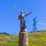 St Bernard - passo de St Bernard minuto Immagini Stock