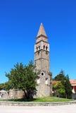 St. Bernardin church in Portoroz, Slovenia Stock Image