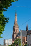 St Bernhard Religious Architecture Be de la catedral de la iglesia de Karlsruhe Imagen de archivo libre de regalías