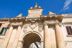 St. Biagio Gate. Lecce. Puglia. Italy. Royalty Free Stock Image