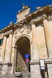 St. Biagio Gate. Lecce. Puglia. Italy. Royalty Free Stock Photo