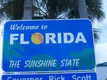 St bienvenu Augustine Florida Etats-Unis de connexion Photo libre de droits